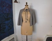 40's cape / Grey Matter Vintage 1940's Knit Cape