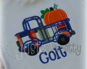 Little Pumpkin Truck Embroidery Applique Design
