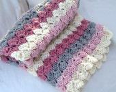 Baby Blanket Crochet Pattern...Stepping Stones, Textured look, Beginner Friendly