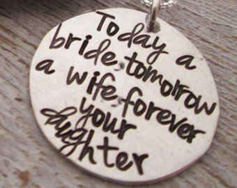 Today a Bride  Necklace -  Mother of the Bride Gift - Personalized Jewelry