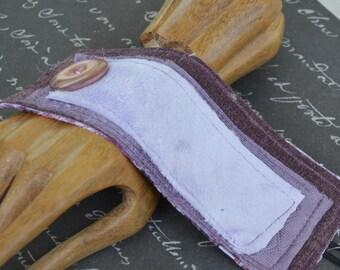 Purple Textile Cuff with Purple Button