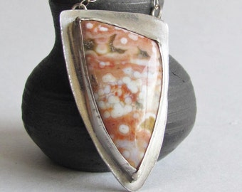 Peach and Green Ocean Jasper Necklace