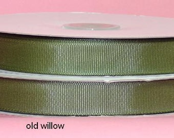 5/8 x 50 yds GROSGRAIN RIBBON - Old Willow...*Save 25%*