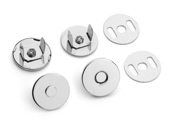 30 Sets Thin Magnetic Purse Snaps - Closures 18mm Nickel - Free Shipping (MAGNET SNAP MAG-124)