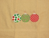 Sample Sale Raggy Christmas Ornament Hand Towel