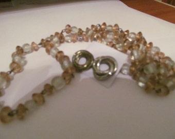 peach clear necklace plus