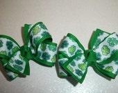 St. Patrick's Day Hair Bows (Item 15-65)