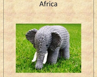 Knitted Animals from Africa, E-Book, Instant Download, Waldorf, 10 Patterns