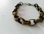The Chain Gang Antique Brass Bracelet