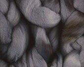 Storm Clouds Gray Hand Painted Kettle Dyed Wool Roving, 2 ounces for Spinning, Felting, Nuno