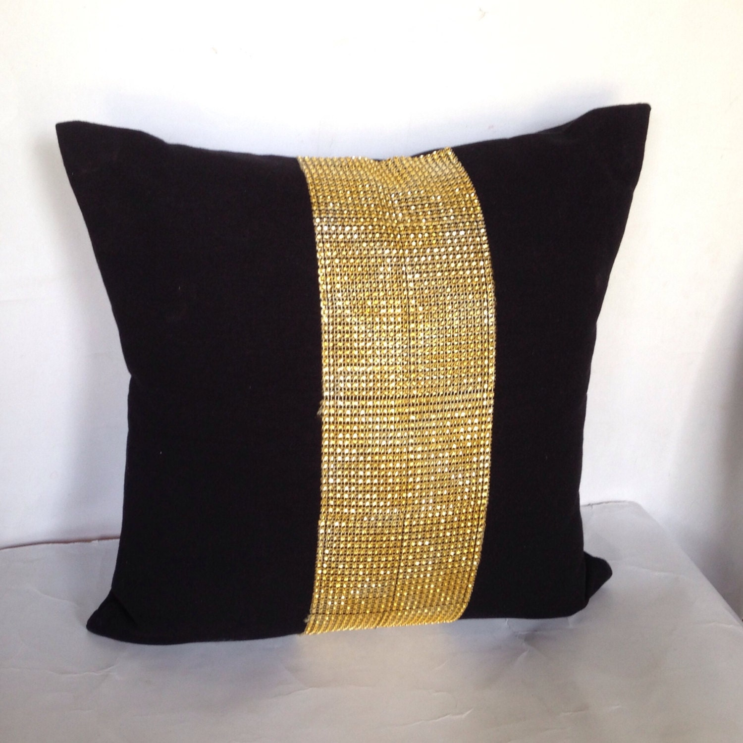Decorative Pillow Black : FREE SHIPPING Metalic Decorative Black Throw Pillows 16 inch