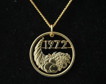 1972 Algeria 20 Centimes 24k Gold Plate