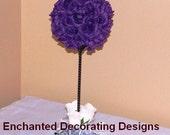 Wedding Topiary Wedding centerpiece silk Flower Kissing Ball Centerpiece wedding silk flower topiary pomander ball wedding centerpiece