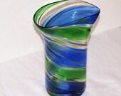"""8"""" H colored glass vase Wedding Table Centerpiece wedding decor silk flower arrangement silk flower centerpiece"""