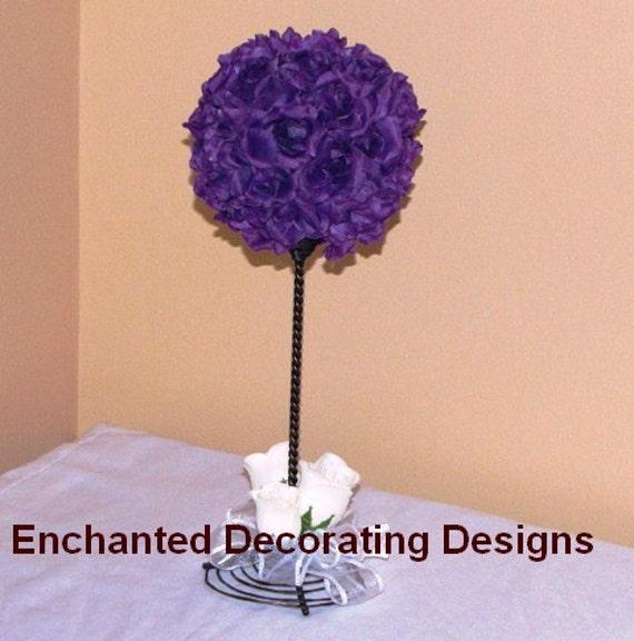 Wedding Centerpiece Silk Flower Kissing Ball Centerpiece Wedding Silk