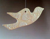 Dove with Victorian Style Pattern Ornament