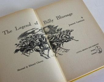 The Legend of Billy Bluesage by Jonreed Lauritzen - Vintage Book c. 1961