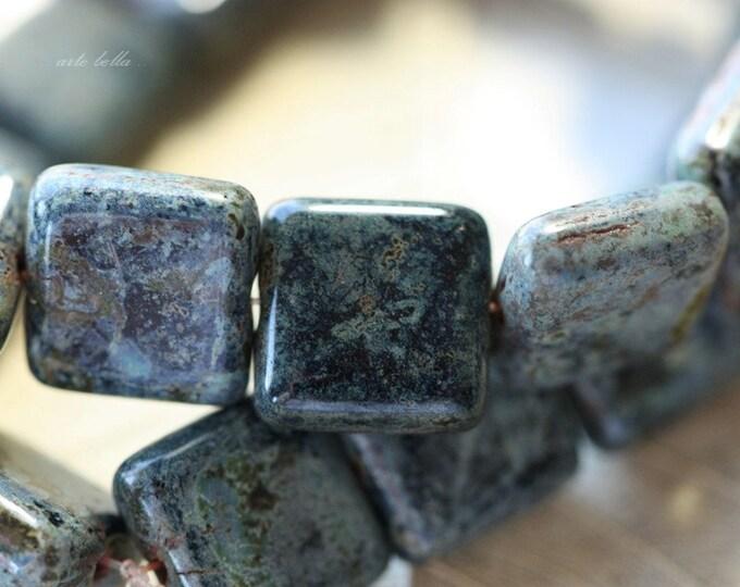 NIGHT SKY .. 10 Premium Picasso Czech Glass Beads 10.5mm (64-10)