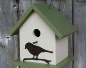 Birdhouse Decorative and Functional Exclusive Metal Bird Cut Out