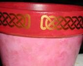 Celtic knot border SET of 6 copper vinyl decals