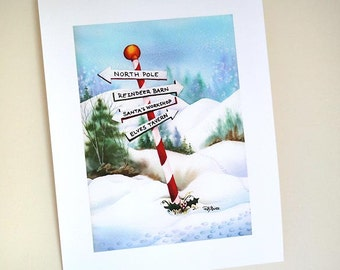 PRINT North Pole Trail 5x7 inch Giclée Fine Art Print
