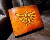 Leather Zelda Triforce Hyrule Wallet
