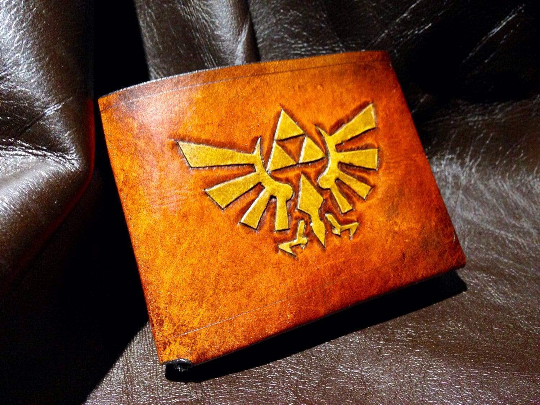 Leather Zelda Triforce Hyrule Wallet steampunk buy now online