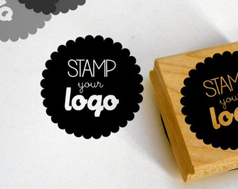Custom logo stamp / self inking / wood block / for your business shop return address stationery cards etc