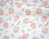 Sanrio fabric my melody  50 cm by 53  cm or 19.6 by 21  inches FAT QUARTER