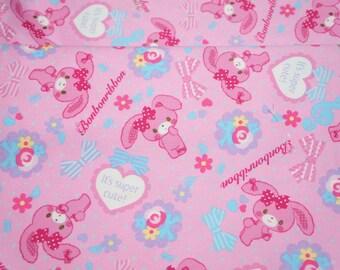Sanrio Japan Licensed Fabric Bonbonribbon Half meter 50 cm by 53  cm or 19.6 by 21 inches