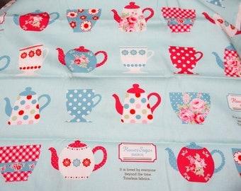1 meter Tea cup print by Flowery sugar nc42