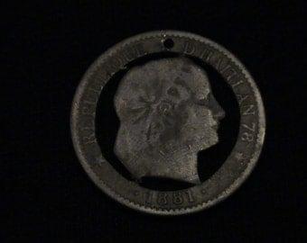 HAITI - cut coin jewelry - Woman - 1881