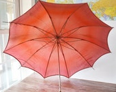 Pink Umbrella Wooden Handle German Polka Dot Fortuna Parasol Rain Umbrella Sun Shade