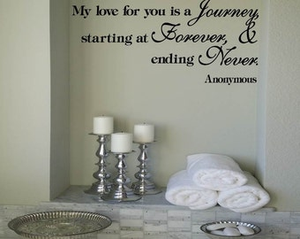 My love for you is a Journey, starting at Forever and Ending Never.