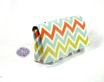 Coupon Organizer Holder Fabric Chevron Stripes Heavy Duty Duck Cotton