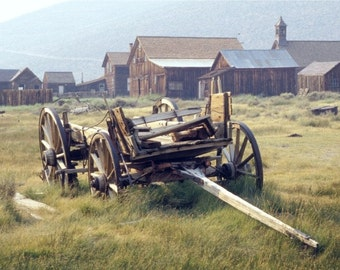 Wagon - Bodie, California ghost town - home, office, den, wall decor