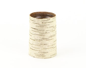 One small birch bark vase and votive