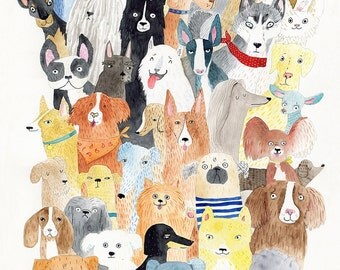 A4 print - Dogs Dogs Dogs