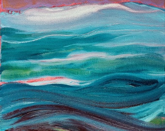 Currents 2 original abstract landscape oil painting