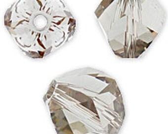 24 pcs Black Diamond Swarovski crystal beads style 5020 4mm Helix beads