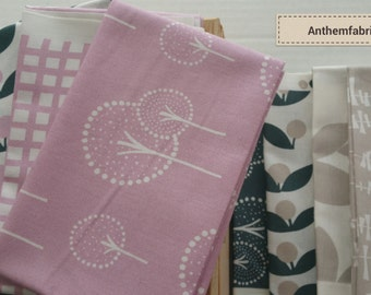 Fabric bundle Lotta Jansdotter  modern Scandinavian fat quarter set - 8 fat quarters GLIMMA fabric