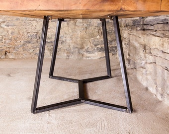 The Sonia - Reclaimed Wood Table With Designer Industrial Base