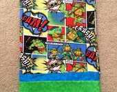 Ninja turtles   PERSONALIZED embroidered Pillowcase Hand made Standard Size