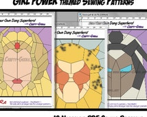 Girl Power Quilt - DIY - Quilt Blocks Pattern - PDF