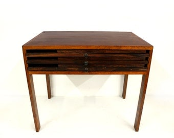 Summer Sale Rosewood Illum Wikkelso Danish Folding Tables Mid Century Modern Silkeborg Furniture Makers