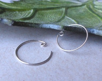 Minimalist hoop earrings, Petite silver hoop earrings, small sterling silver hoops