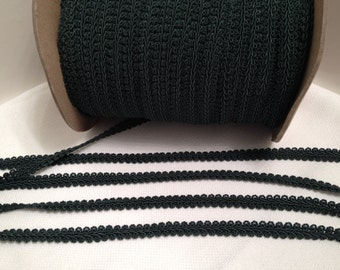 Gimp, Hunter Green, Braid, Trim, Home Decor, Pillows, Costumes, Craft Supply, Sewing Supply, Draperies, Bags and Purses, Hats, Per 5 yards
