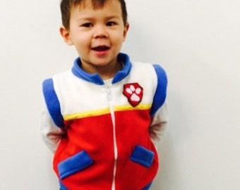 Paw patrol Ryder inspired jacket vest