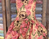 Skull and roses rockabilly dress