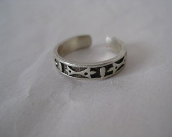 Sterling Toe Ring Vintage Silver Adjustable 925